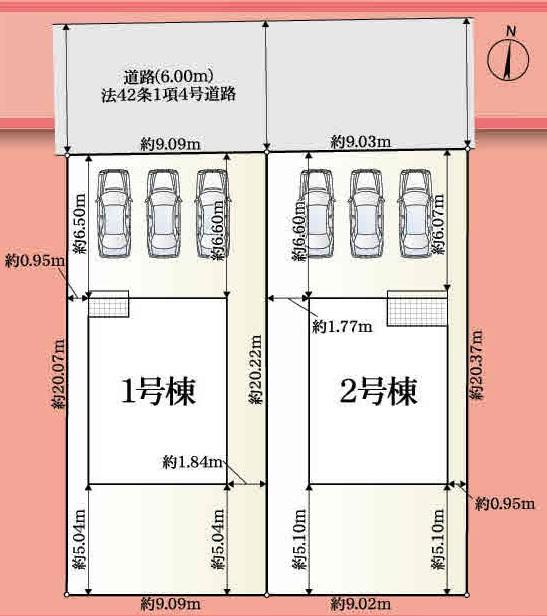 焼津市小川第1 全2棟 4LDK 1号棟ウォークイン 2号棟テレワークルーム